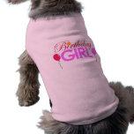 Perro del chica del cumpleaños ropa de perro
