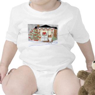 Perro del collie del navidad trajes de bebé