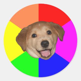 Perro del consejo pegatina redonda