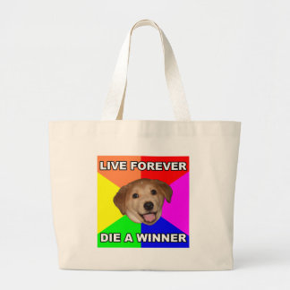 Perro del consejo vivo para siempre bolsas lienzo