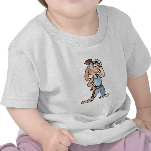 Perro del constructor camiseta