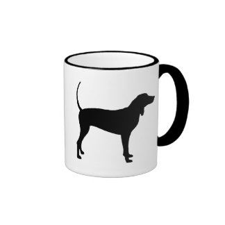 Perro del Coonhound (negro) Taza De Dos Colores