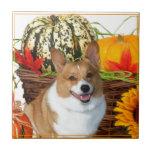 Perro del Corgi de Halloween Galés Azulejo Cuadrado Pequeño