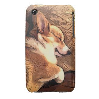 Perro del Corgi Galés del Pembroke el dormir Case-Mate iPhone 3 Protector