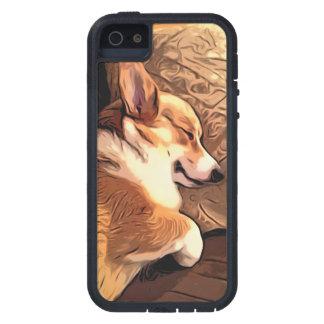 Perro del Corgi Galés del Pembroke el dormir Funda Para iPhone 5 Tough Xtreme