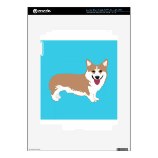 Perro del Corgi iPad 3 Pegatina Skin
