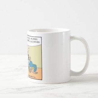 Perro del correo en regalos raros divertidos del d taza de café