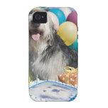 Perro del cumpleaños iPhone 4/4S carcasa