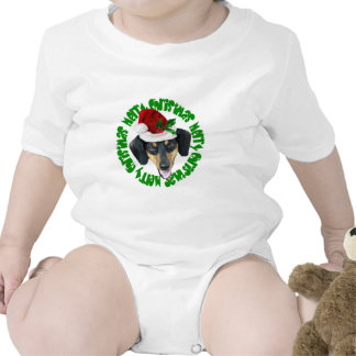Perro del Dachshund del navidad Trajes De Bebé