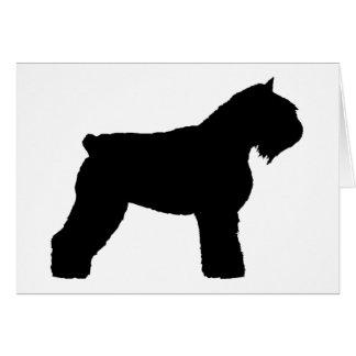 Perro del DES Flandres de Bouvier (en negro) Tarjeta De Felicitación
