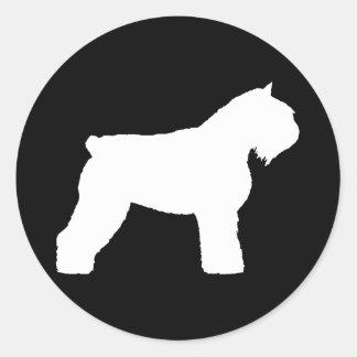 Perro del DES Flandres de Bouvier Pegatina Redonda