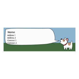 Perro del descortezamiento - flaco tarjetas de visita mini