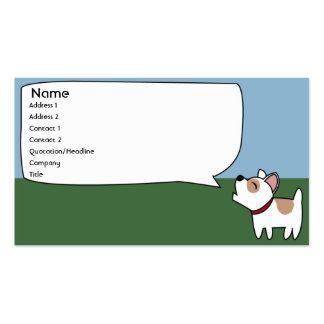 Perro del descortezamiento - negocio plantilla de tarjeta personal