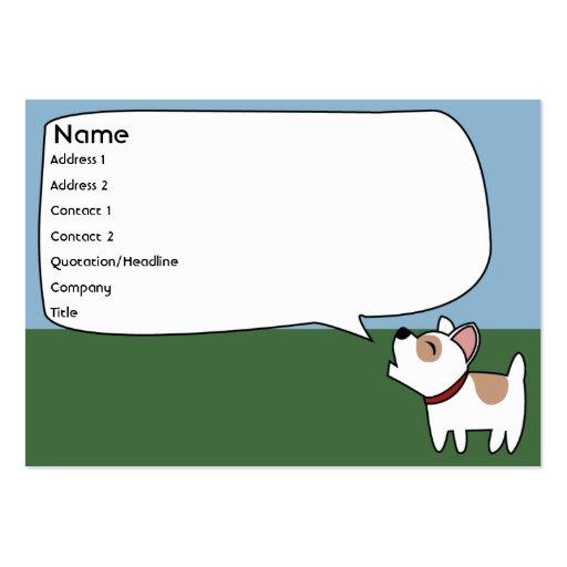 Perro del descortezamiento - rechoncho plantillas de tarjeta de negocio