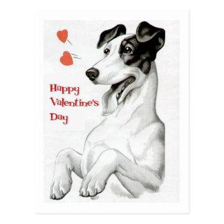 Perro del día de San Valentín Tarjetas Postales