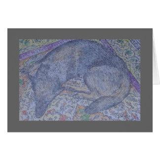 perro del diamante en la manta tarjeta de felicitación