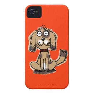 perro del dibujo animado carcasa para iPhone 4 de Case-Mate