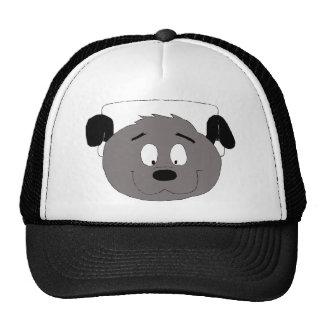 Perro del dibujo animado con los auriculares gorra