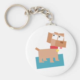 Perro del dibujo animado de Brown con el cuello Llavero