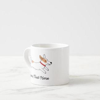 Perro del dibujo animado de Jack Russell Terrier c Taza Espresso