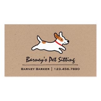 Perro del dibujo animado de Jack Russell Terrier Tarjetas De Visita