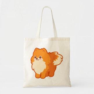 Perro del dibujo animado de Kawaii Pomeranian Bolsas De Mano