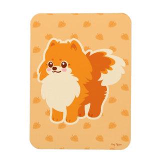 Perro del dibujo animado de Kawaii Pomeranian Imanes Flexibles