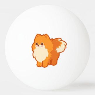 Perro del dibujo animado de Kawaii Pomeranian Pelota De Tenis De Mesa