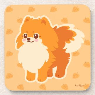Perro del dibujo animado de Kawaii Pomeranian Posavasos