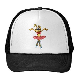 Perro del dibujo animado de la bailarina gorras de camionero