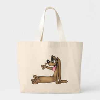 Perro del dibujo animado del Dachshund Bolsas