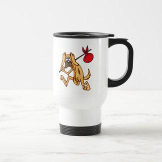 Perro del dibujo animado del vago del hobo taza