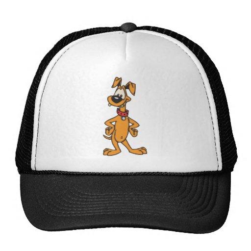 Perro del dibujo animado gorras