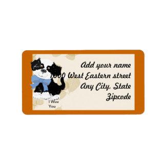 Perro del dibujo animado - las hojas del moreno de etiqueta de dirección