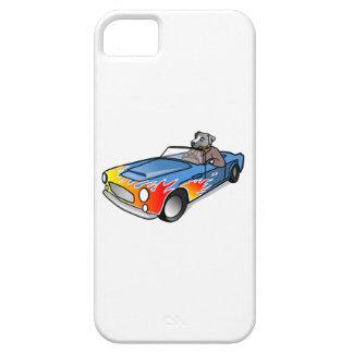 Perro del dibujo animado que conduce un coche iPhone 5 Case-Mate cárcasa