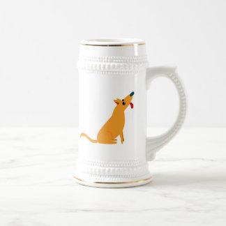 Perro del dibujo animado jarra de cerveza