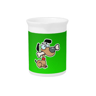 Perro del dibujo animado Verde