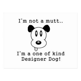 Perro del diseñador tarjetas postales