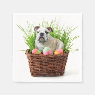 Perro del dogo de Pascua Servilletas Desechables