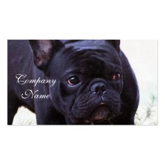 Perro del dogo francés tarjetas de visita