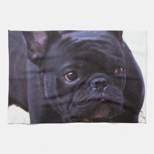 Perro del dogo francés toallas
