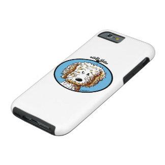 Perro del Doodle de KiniArt Funda Para iPhone 6 Tough