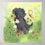 Perro del Doodle de Labradoodle/impresión del Poster