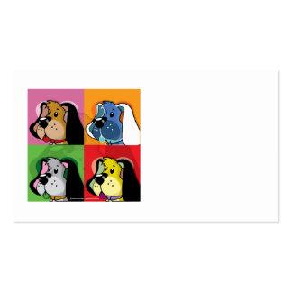 Perro del edredón del arte pop tarjetas de visita