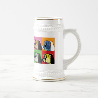 Perro del edredón del arte pop taza