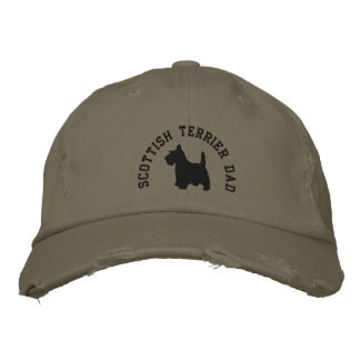 Perro del escocés del papá de Terrier del escocés Gorra De Beisbol Bordada
