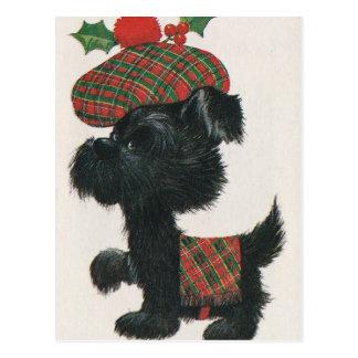 Perro del escocés del vintage tarjetas postales