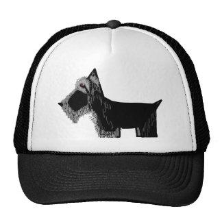 Perro del escocés gorras de camionero
