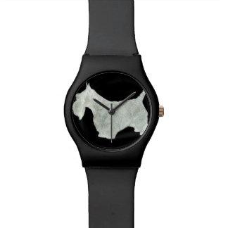 Perro del escocés relojes de pulsera