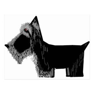 Perro del escocés tarjeta postal